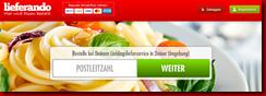 Lieferando Thumb in Lieferando-die bequeme Essens-Bestellplattform