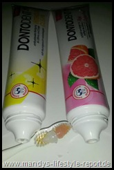 Set Thumb in DONTODENT - Pink Grapefruit und Intensive Clean